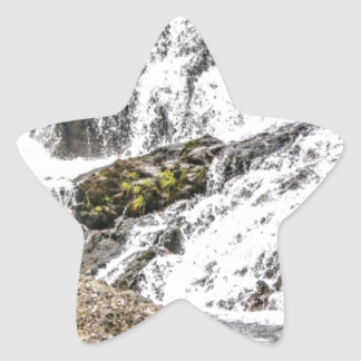 creeks pours over rocks star sticker