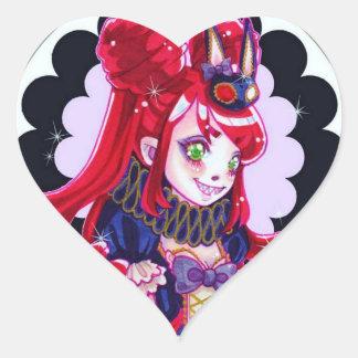 Creep, Cute Monster Heart Sticker
