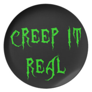 Creep it Real Party Plate