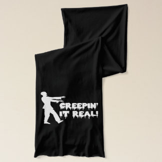 Creepin It Real Funny Zombie Scarf