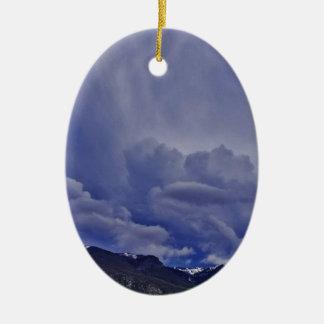 Creeping Clouds 1 Ceramic Ornament