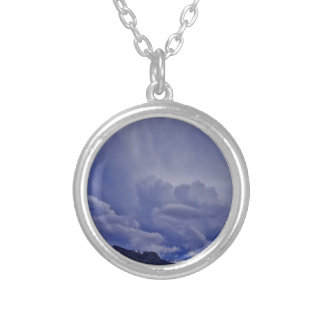 Creeping Clouds 1 Silver Plated Necklace