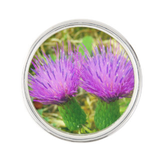 Creeping or Field Thistle Lapel Pin