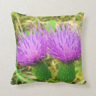 Creeping or Field Thistle Throw Cushion