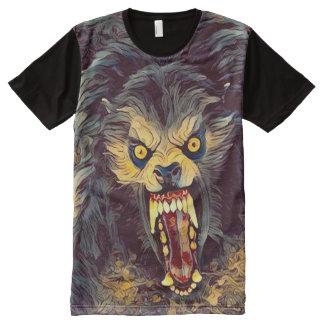 Creepy American Werewolf Dark Horror Art All-Over Print T-Shirt