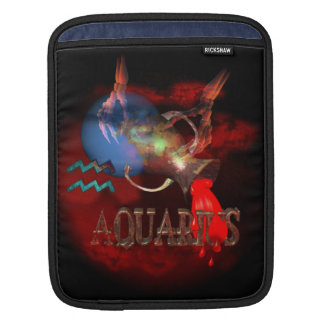 Creepy Aquarius zodiac astrology by Valxart com iPad Sleeves