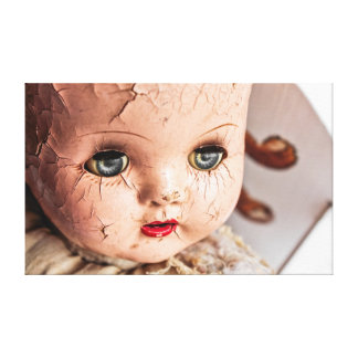 creepy baby canvas canvas print