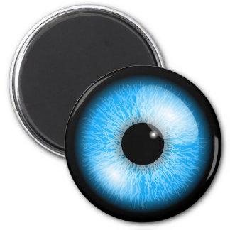 Creepy Blue Realistic Eyeball Print Magnet