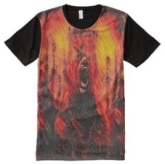Creepy Burning Death Dark Horror Fantasy Art All-Over Print T-Shirt