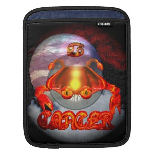 Creepy Cancer zodiac astrology by Valxart.com Sleeve For iPads
