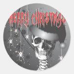 Creepy Christmas Round Sticker