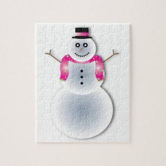 creepy christmas snowman jigsaw puzzle