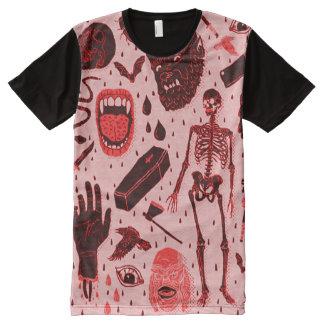 Creepy Classical Halloween Horror Art All-Over Print T-Shirt