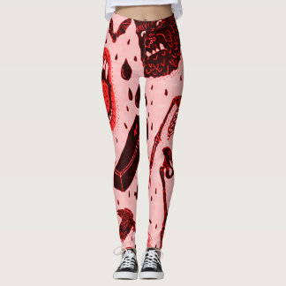 Creepy Classical Halloween Horror Art Leggings