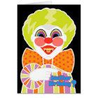 Creepy Clown Birthday Scary Getting Older Card