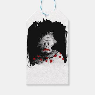 Creepy clown gift tags