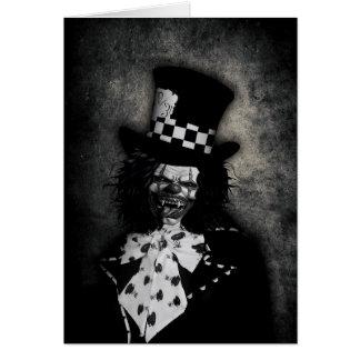 Creepy Clown Greeting Card