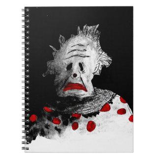 Creepy clown notebook
