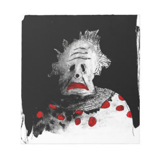 Creepy clown notepad