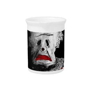 Creepy clown pitcher