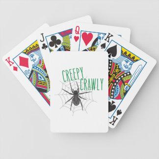 Creepy Crawley Bicycle Poker Cards
