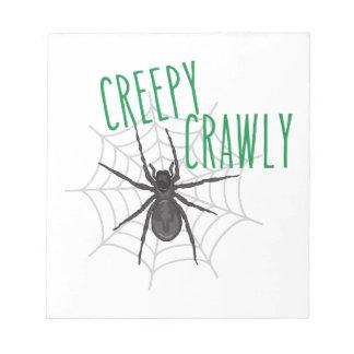Creepy Crawley Notepad