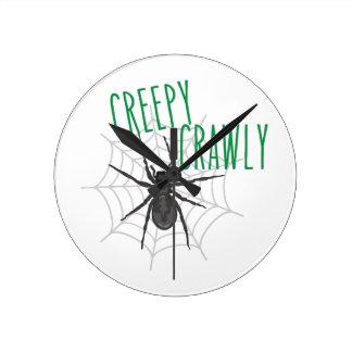 Creepy Crawley Wallclock