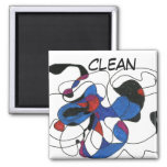 """Creepy Crawly"" Abstract Dishwasher Status Magnet"