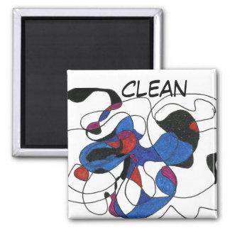 """Creepy Crawly"" Abstract Dishwasher Status Magnet"