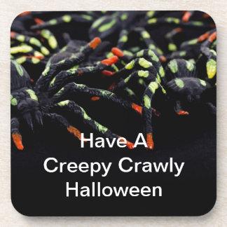Creepy Crawly Halloween Spiders Drink Coasters