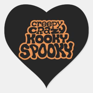 Creepy-Crazy-Kooky-Spooky Heart Sticker