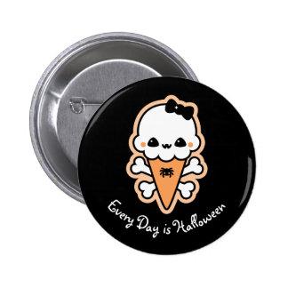 Creepy Cute Ice Cream Cone 6 Cm Round Badge