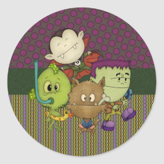 Creepy Cuties Classic Round Sticker