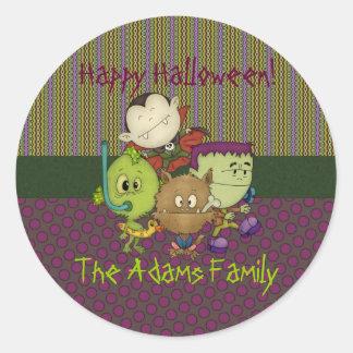 Creepy Cuties Round Sticker