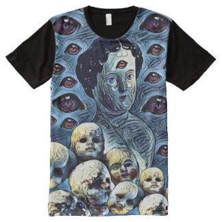 Creepy Dark Dreams of Eyes Horror Fantasy Art All-Over Print T-Shirt