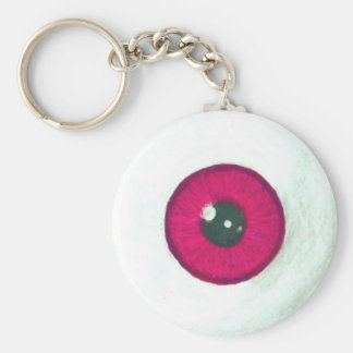 Creepy Dark Red Eyeball Keychain