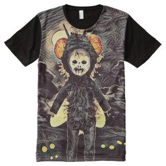Creepy Demon Bug Girl Dark Art All-Over Print T-Shirt