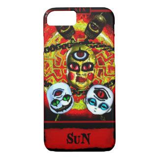 Creepy Demonic Sun Tarot Card iPhone 7 Case