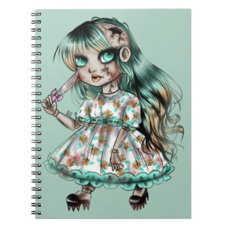 Creepy doll notebooks