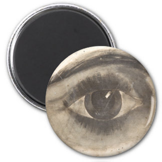 Creepy Eye Weird Printed Eyeball Watching You 6 Cm Round Magnet