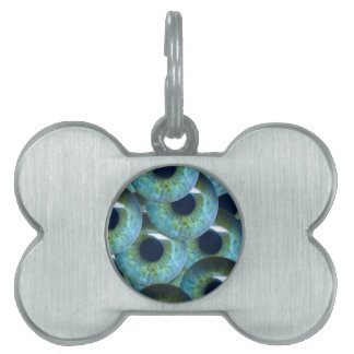 creepy eyeballs pet tag