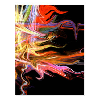 creepy fire icicle abstract cosmic illustration ar post cards