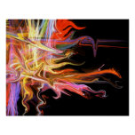 creepy fire icicle fractal fine art poster