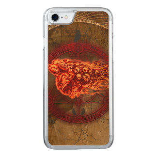Creepy flying  skulls carved iPhone 7 case
