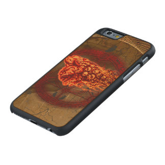Creepy flying  skulls carved maple iPhone 6 case