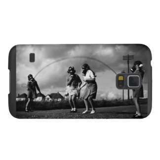 Creepy Gas Mask on Children Jumping Rope Galaxy S5 Cover