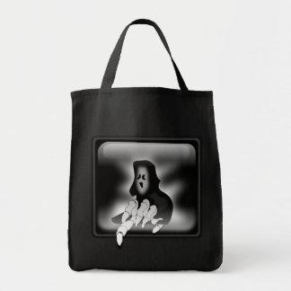 """Creepy Ghost"" Grocery Tote Bag"