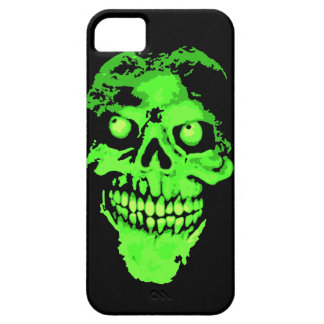 Creepy green neon style skull case for the iPhone 5