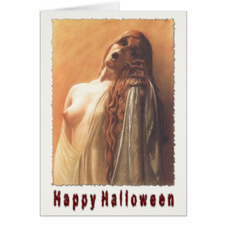 Creepy Greeting Card For Halloween