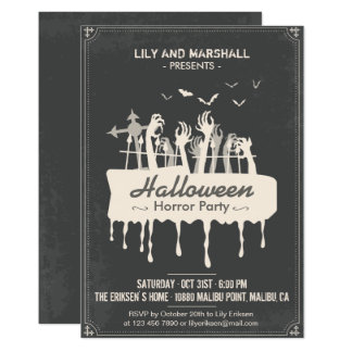 Creepy Halloween Horror Party Invitation